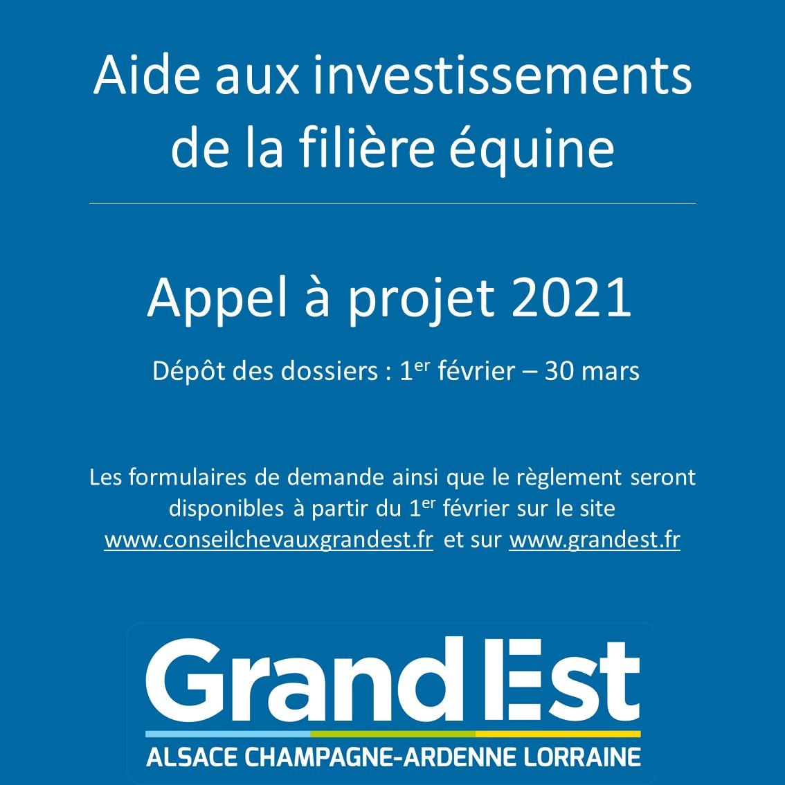 L'aide à l'investissement de la filière équine est reconduit en 2021